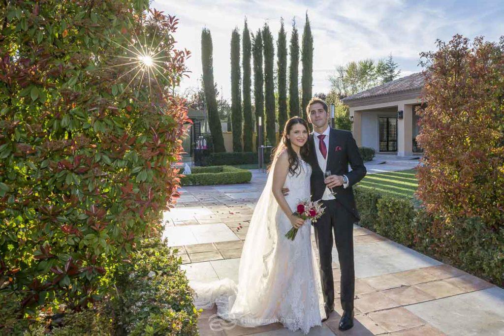 novios recien casados