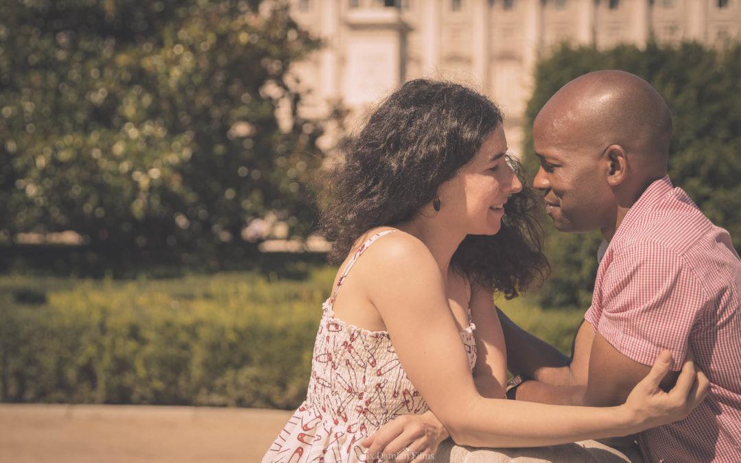 Lovestory en la Plaza de Oriente de Madrid